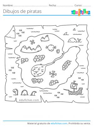 dibujos de mapas de piratas