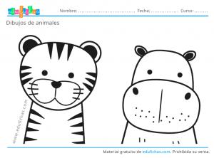 dibujos para pintar de animales