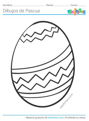 dibujos para pintar de huevos de Pascua
