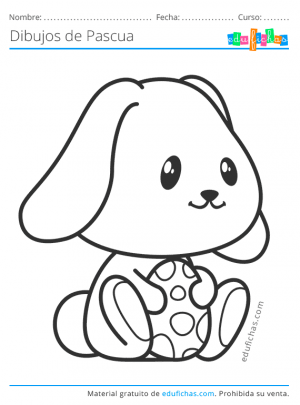 imprimir conejo de pascua