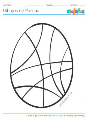pascua, huevos para imprimir y pintar
