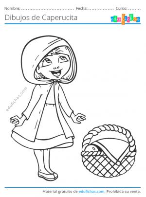 dibujos para colorear de caperucita
