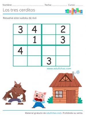 sudoku de los tres cerditos