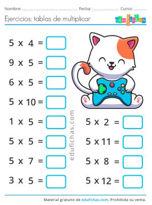 aprender la tabla del 5