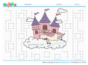 castillos y trazos para preescolar