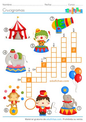 crosswords divertidos para niños