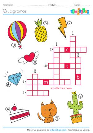 Crucigramas Fáciles Para Niños Descargar Libro De Crucigramas En Pdf