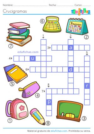 crucigramas para niños pdf gratis