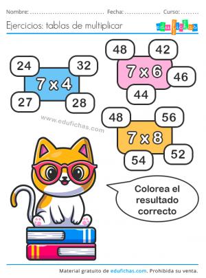 ejercicios tabla 7