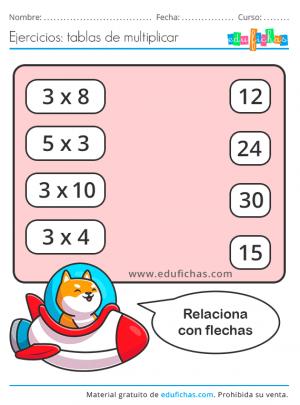ejercicios tabla del 3