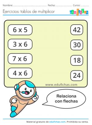 ejercicios tabla del 6