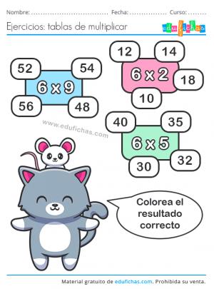 fichas tabla x6