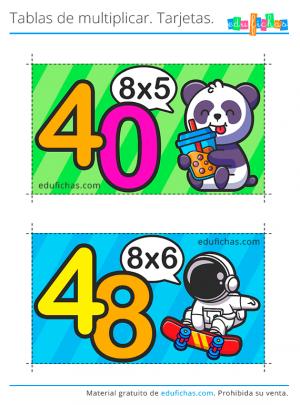 flashcards tabla del 8