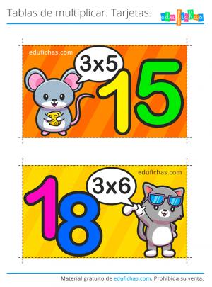 flashcards tabla del 3