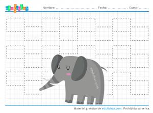 grafomotricidad selva elefante