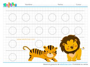 tigre y leon grafomotricidad