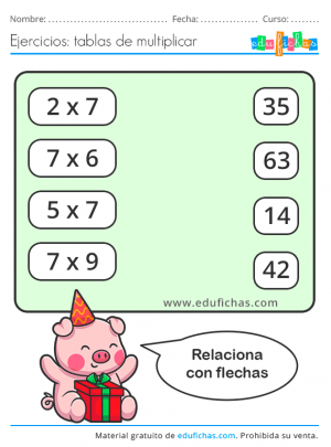 material educativo para la tabla del 7