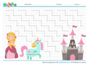 princesas y unicornios grafomotricidad