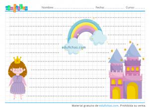princesas y castillos grafomotricidad