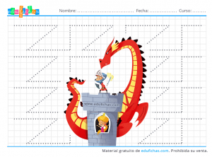 princesas y dragones grafomotricidad