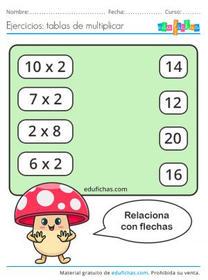 relacionar la tabla del 2