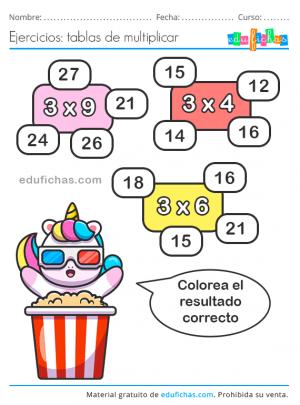 tabla del 3 primaria