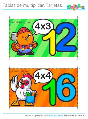 tabla del 4 flashcards