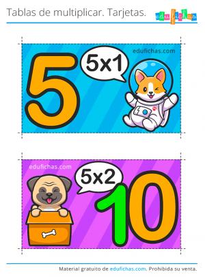 tabla multiplicar 5