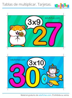 tabla de multiplicar del 3 gratis