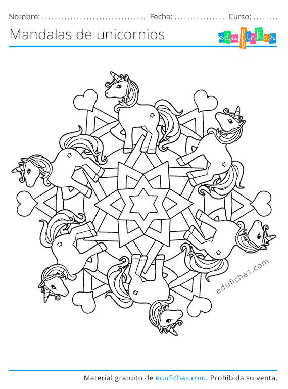 unicornios mandala