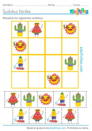 sudoku de imágenes de verano