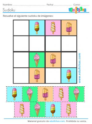 sudoku de imágenes de verano pasatiempo