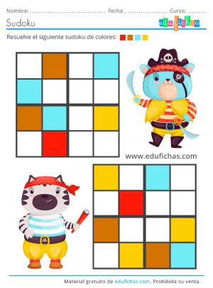 sudoku de verano de colores