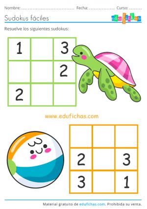 sudoku facil de verano