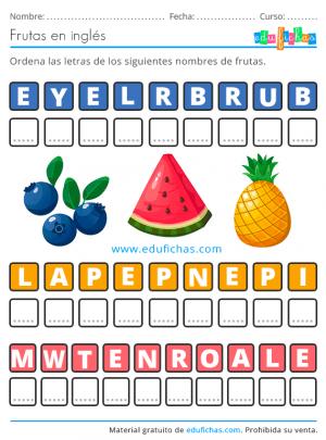 aprender las frutas en ingles