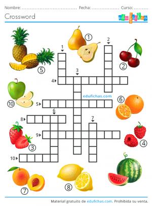 crossword fruits