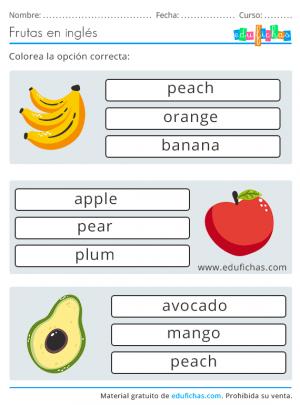 fruit names
