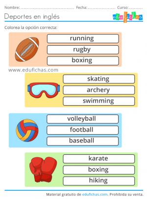 ingles sport