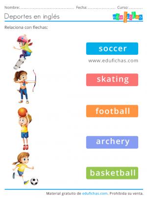 sport ejercicios en ingles