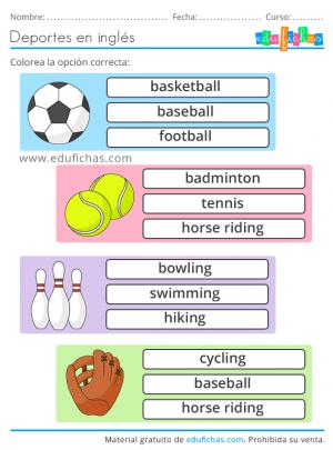 vocabulario sports
