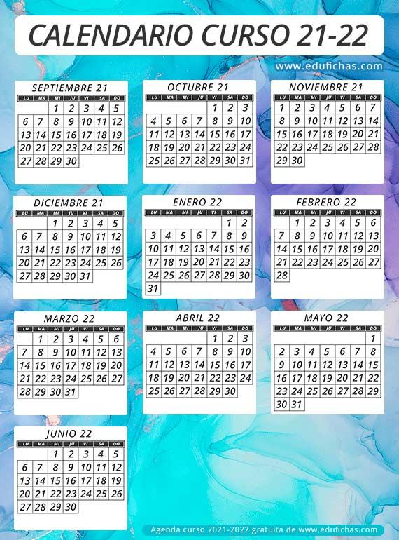 calendario curso 2021-2022