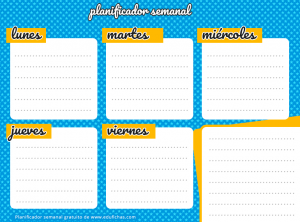 planificador semanal horizontal