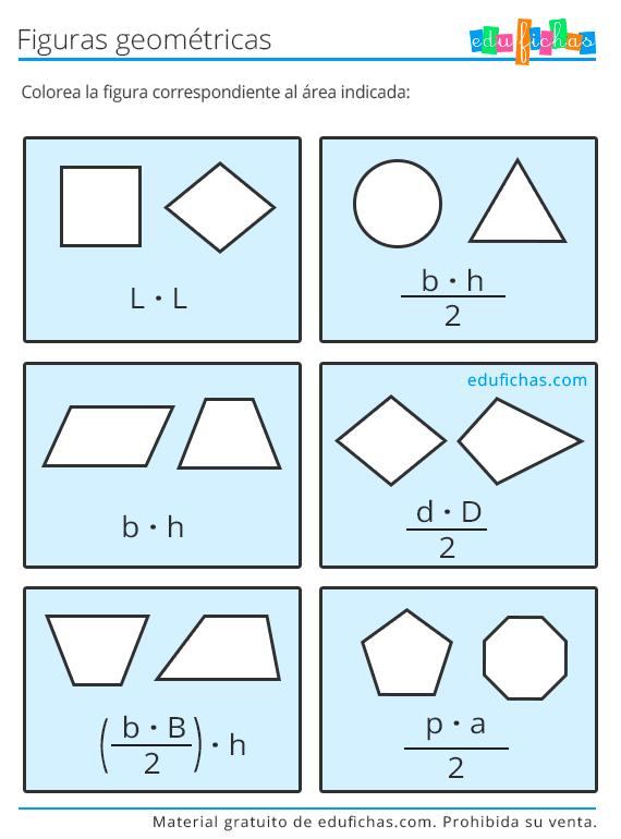 area de figuras geometricas primaria