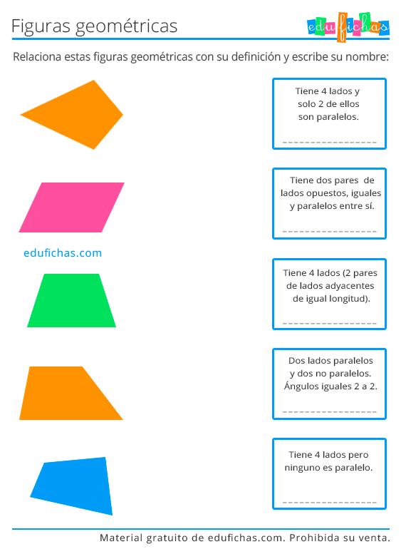 definiciones de figuras geometricas ejercicio