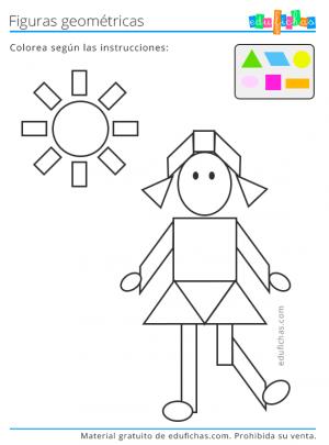dibujo geometrico para colorear