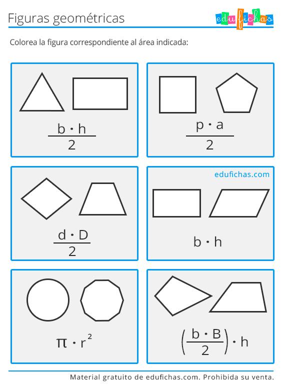 formas y areas para primaria