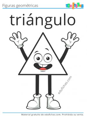 triangulo para colorear