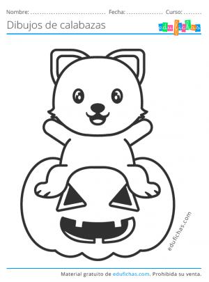 calabaza de halloween para colorear