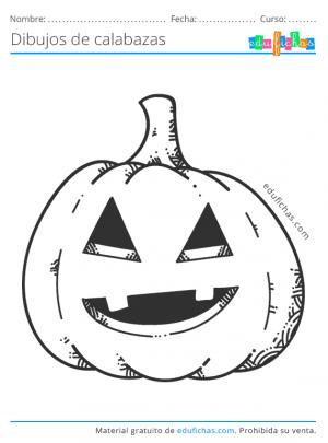 colorear calabaza de halloween