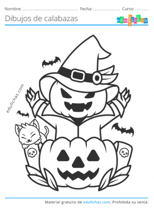 colorear calabazas de halloween